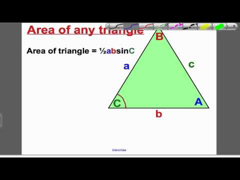 Area of Triangles 1 (GCSE Higher Maths)- Tutorial 19