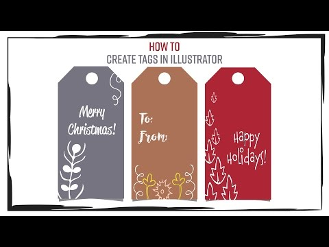 How to create Holiday/gift tags with Illustrator