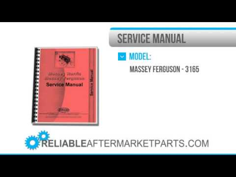2682 New Massey Ferguson 3165 Tractor Service Manual