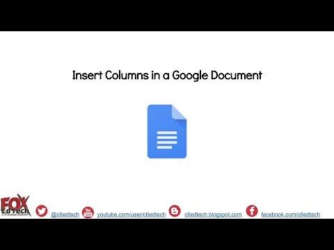 Insert Columns in a Google Document
