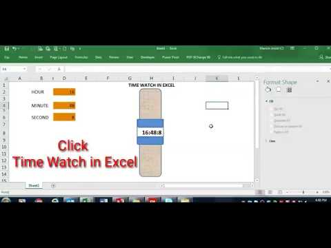 How to Create a digital time watch in Excel II USE OF HOUR FORMULA