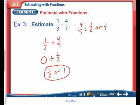 5-1: Estimating with Fractions