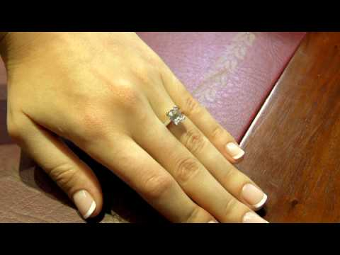 Emerald cut diamond engagement ring Dublin SR1019
