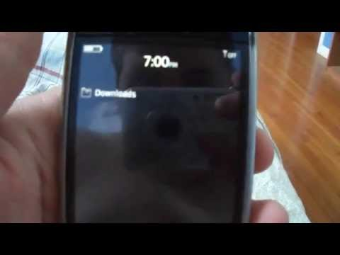 BlackBerry Storm 9530 Downloads menu