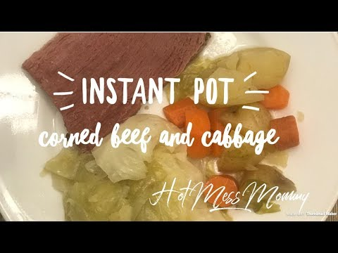 EASY Instant Pot Corned Beef & Cabbage