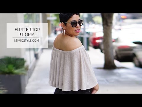 DIY FLUTTER TOP TUTORIAL W/ STRAP OPTIONS