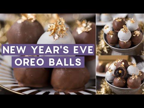 New Year's Eve Oreo Balls