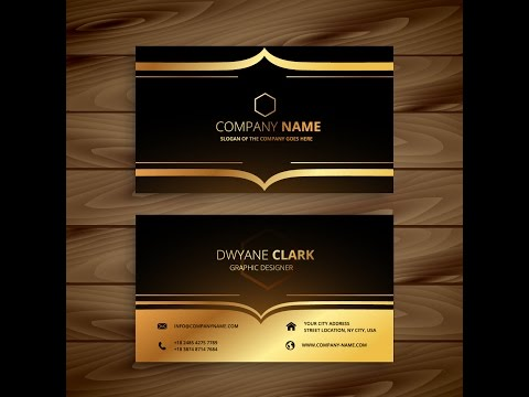 How to create luxury golden style business card in adobe illustrator cs6