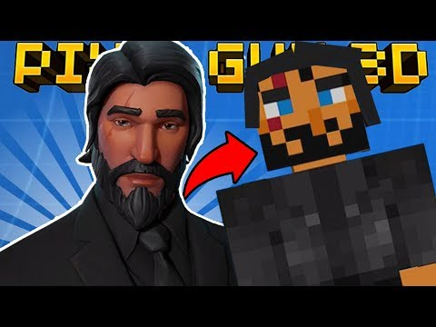 HOW TO MAKE JOHN WICK in PIXEL GUN 3D! (Fortnite Skin Tutorial)