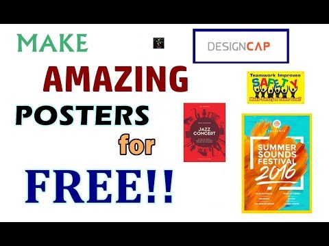 How to Make Professional and Artistic Posters for FREE!! | DesignCap Poster Maker | Honest Review