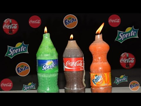 How To Make Coca-Cola, Fanta and Sprite Candles at Home