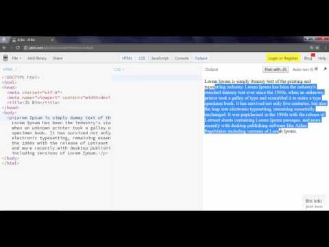 Web Tricks - Change the Selected Text Color using CSS-3