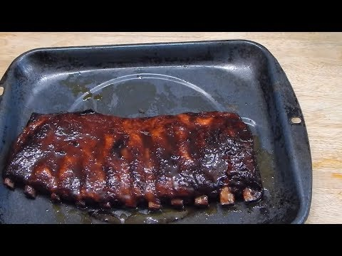 BBQ Ribs On Charcoal Grill - Barbecue Ribs