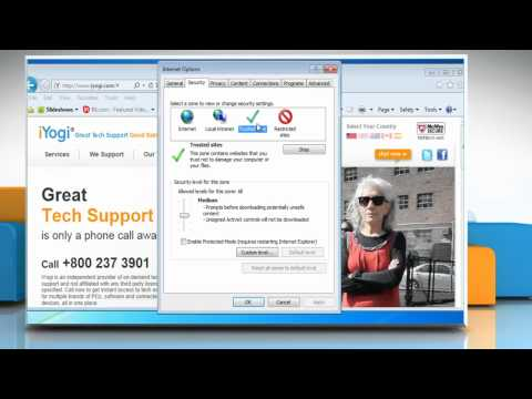 Internet Explorer® 9: How to change the security settings on Windows® 7?