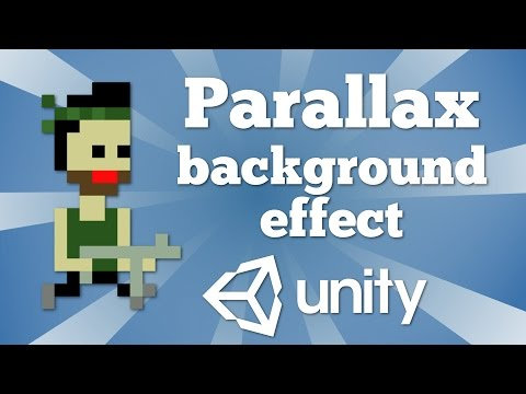 How to make a parallax background effect in Unity 2D platformer game. Very easy.