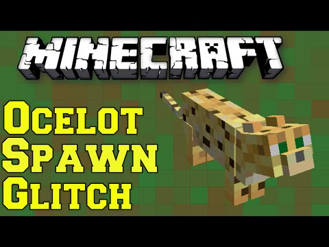 Minecraft: Ocelot Spawn Glitch/Bug - How to Tame An Ocelot PS3/PS4/Xbox