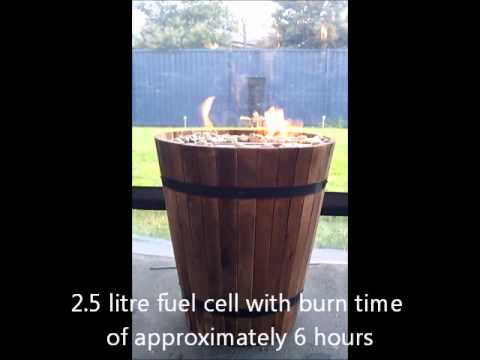 wine barrel burner
