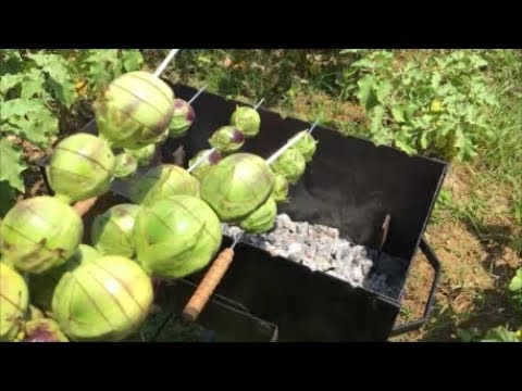 Farm Fresh Eggplant Barbecue - Sweet and Spicy Brinjal Dish - Mouth Watering Vegetable Barbecue