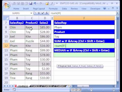 Excel Magic Trick #145 p1 MEDIAN IF