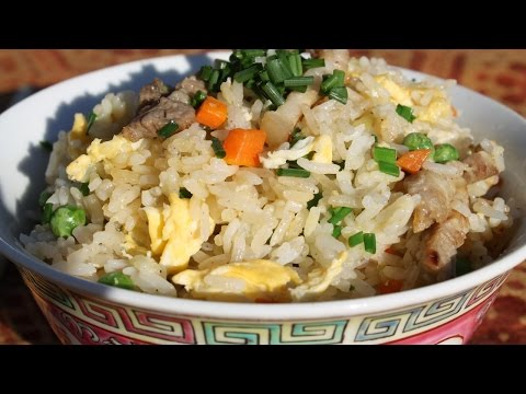 Cantonese Stir Fried Rice 炒飯 Chao Fan - Morgane Recipes