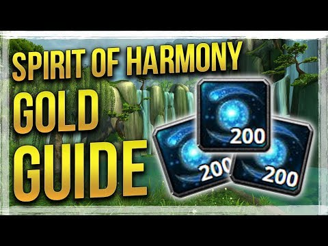 WoW: Best Spirit of Harmony Farming Spot - Patch 8.0 Gold Guide