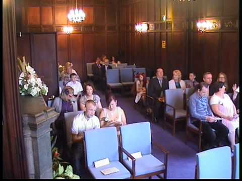 Wedding Ceremony part 1 at the registry office in Dudley UK