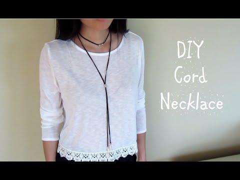 DIY: Suede Cord Necklace