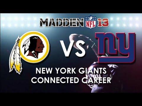 Madden 13: Washington Redskins vs. New York Giants