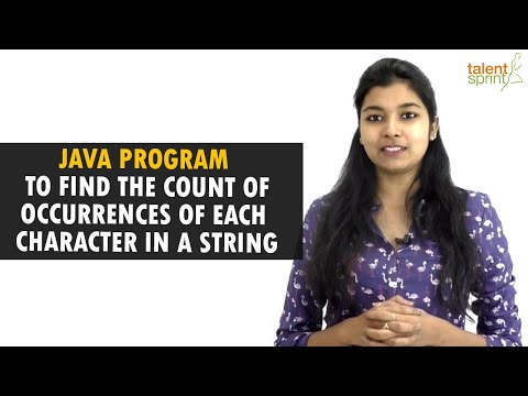 Java Program to Find the Count of Occurrences of Each Character in a String