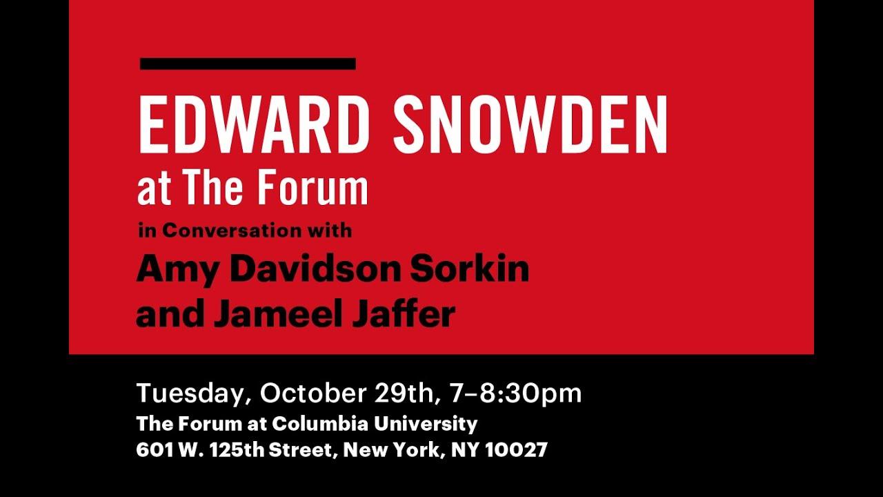 A Conversation with Edward Snowden