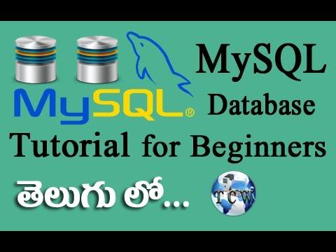 MySQL Database Complete Tutorial in Telugu for Beginners