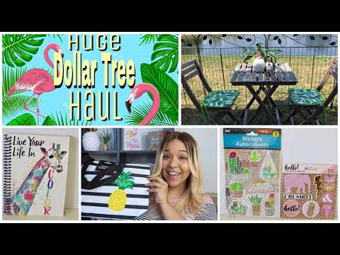 HUGE DOLLAR TREE HAUL MAY 2018 Makeup, Craft supplies and Summer Decor
