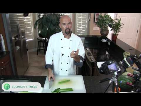 How to cut celery - Knife Skills 101 with Chef Dennis Berry | Healthy Cooking Videos