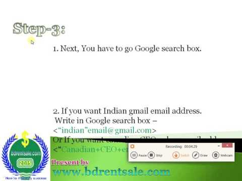 How to collect million-billion email address from Google search in few times.