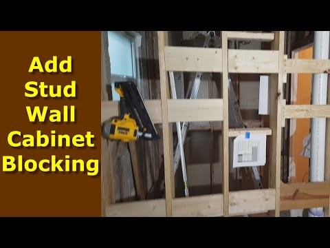 How to add Cabinet/Wall Blocking to Stud Walls for Easy Kitchen Cabinet Installation