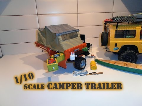 build of a custom scale, 1/10, off road, camper, trailer