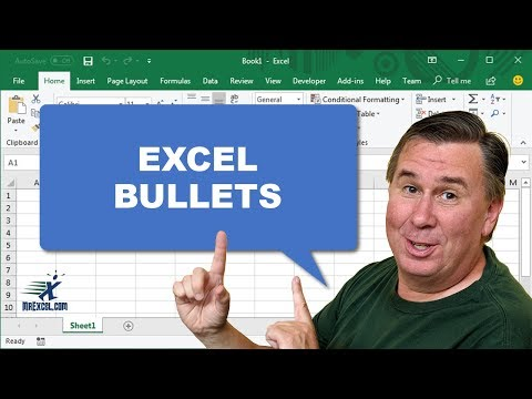 Learn Excel - Bullets in Excel - Podcast 2051
