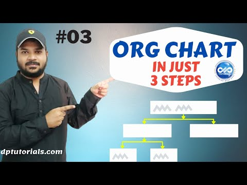 How To Make An Organizational Chart in Just 3 Steps || MS Excel || dptutorials