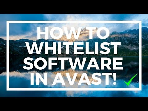 How to White List Software On Avast Anti Virus