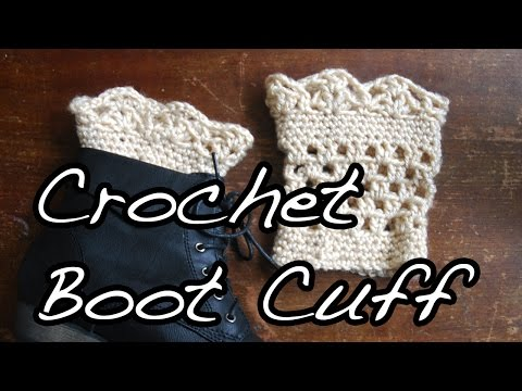 Crochet Lace Boot Cuffs Tutorial