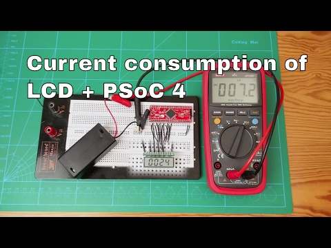Current Consumption of 7 Segment LCD and PSoC4