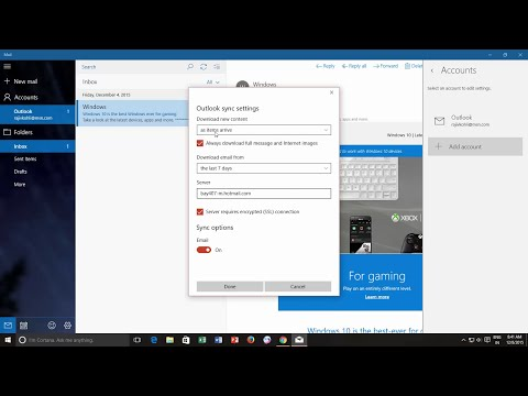 How to Change Mail App Sync Settings | Microsoft Windows 10 Tutorial | The Teacher
