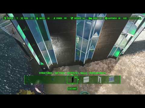 Fallout 4 advance settlement building methods: object rotation, scaling and adjusting
