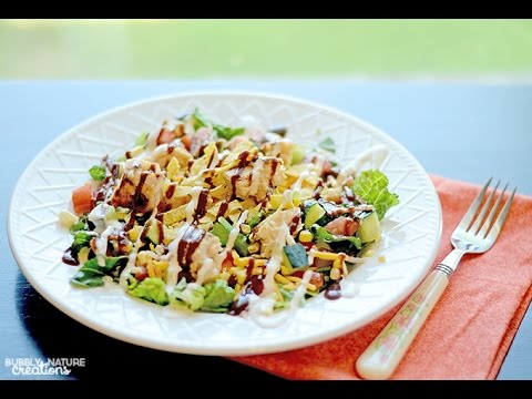 How to Make BBQ Chicken and Ranch Chopped Salad
