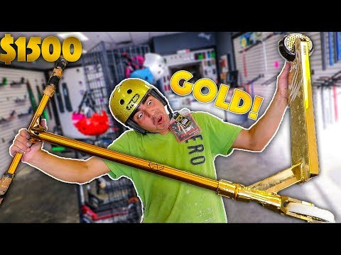 ADRIAN BUILDS HIS FIRST CUSTOM PRO SCOTER! ALL GOLD*