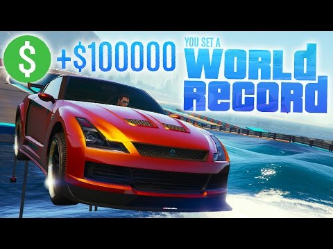 GTA Online: Double Comeback & World Record! - $100k Premium Stunt Race H200 (GTA 5 Cunning Stunts)