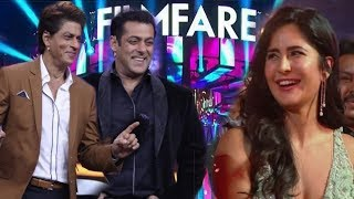 Salman Khan and Shahrukh Khan Makes Fun at Filmfare Awards 2019 | Katrina Kaif Enjoyed This Moments