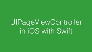 Uipagevewcontroller In Ios With Swift