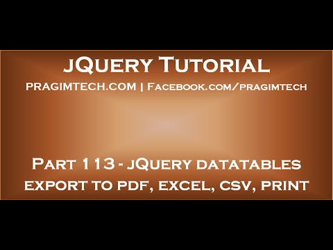 jQuery datatables export to pdf