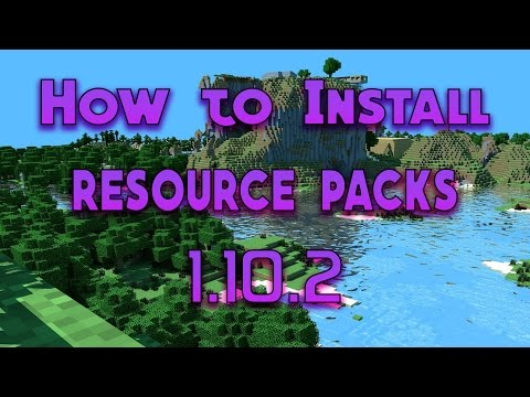 Minecraft: How to Download/Install Texture/Resource Packs in Minecraft 1.10.2